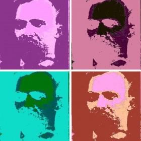 Friedrich Nietzsche (warholized)