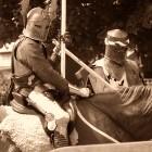 Nat Edwards: Knights at Azincourt (Public Domain)